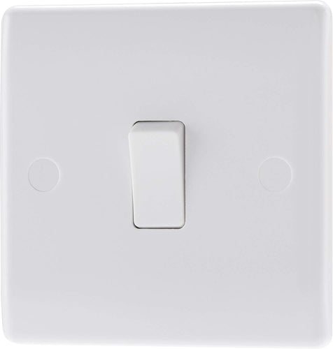 BG Electrical Double Pole Switch with Power Indicator, White Moulded, 2-Way, 10AX - iBuy Africa