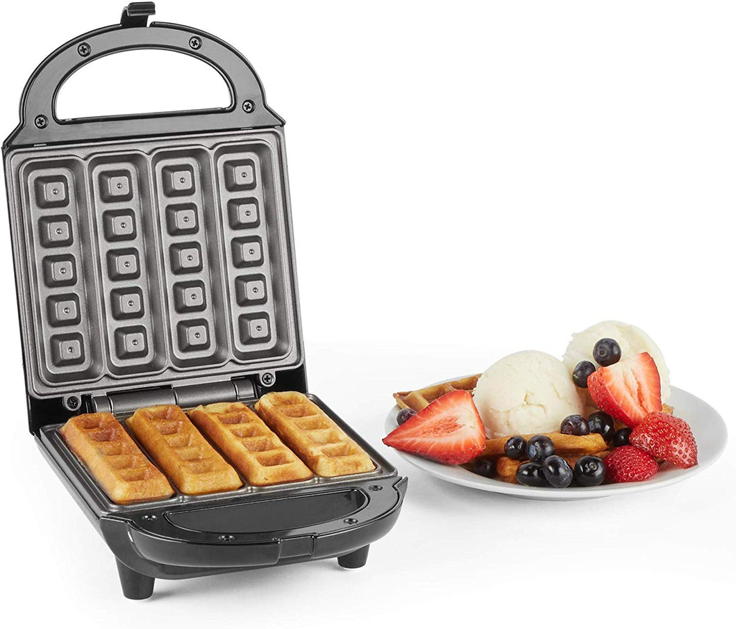 VonShef Waffle Maker, Stick Belgian Waffle Easy Clean Non-Stick Coated Plates & Automatic Temperature Control, Compact Stainless Steel Design – 500W Stick - iBuy Africa