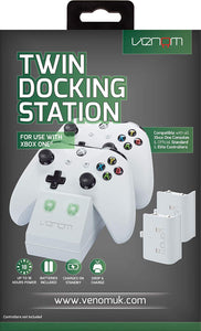 Venom Xbox One Twin Docking Station with 2 x Rechargeable Battery Packs: White (Xbox One) - iBuy Africa