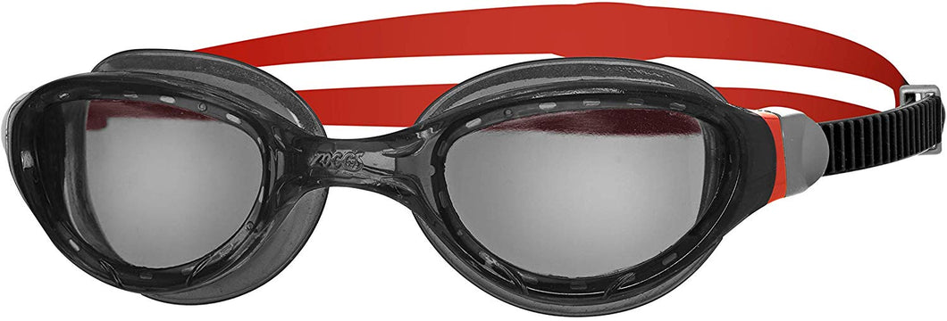 Zoggs Phantom 2.0 Swimming Goggles Black/Red/Smoke - iBuy Africa