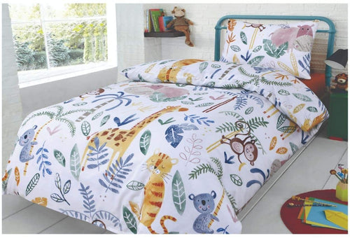 SleepyNights Junior Cot Bed Duvet Cover and Pillow Set Jungle Jamboree - iBuy Africa