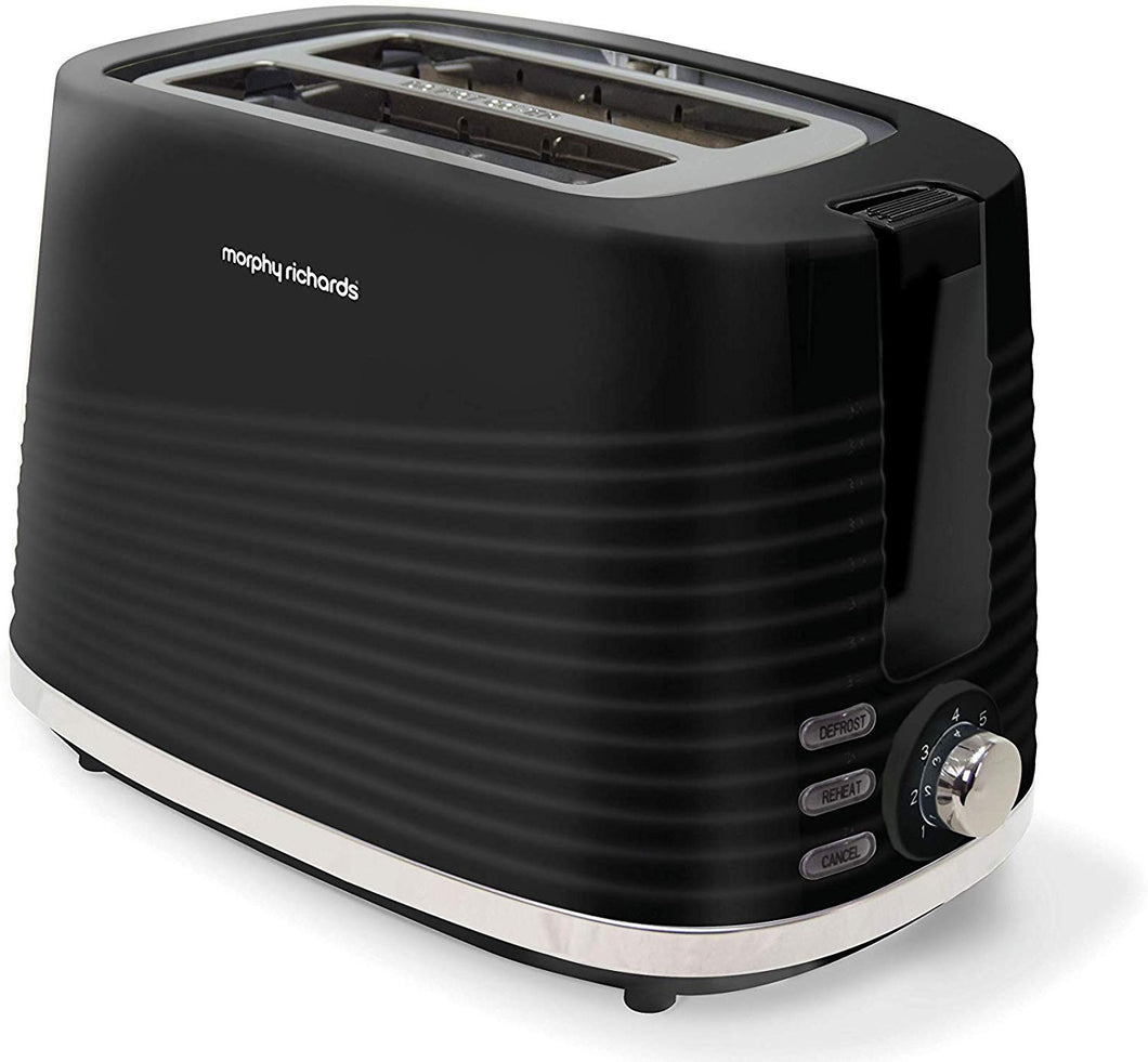 Morphy Richards 220026 Dune 2 Slice Toaster Defrost and Re-Heat Settings, Black, white, green and cream - iBuy Africa