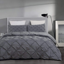 Load image into Gallery viewer, Soft Microfiber Pinch Pleat Pintuck Duvet Cover Set with Zipper Closure - iBuy Africa