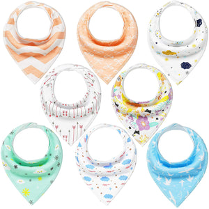 Baby Bandana Dribble Bibs Drool Bibs for Drooling and Teething 8 Pack Super Soft and Absorbent for Boys Girls - iBuy Africa