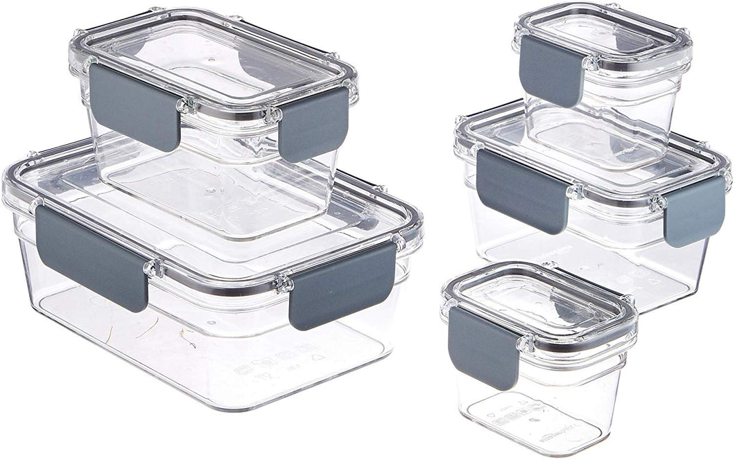 Tritan Locking Food Storage Container, 22-Piece Set (11 containers + 11 lids) - iBuy Africa