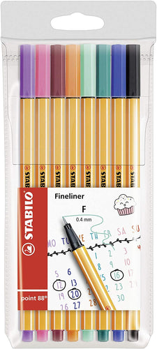 Fineliner - STABILO point 88  Wallet of 8 Assorted Shades of Red - iBuy Africa