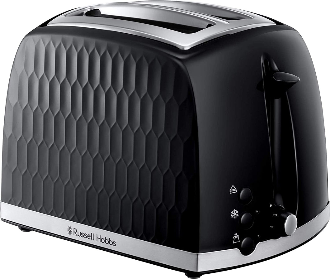 Russell Hobbs Toaster - Contemporary Honeycomb Design with Extra Wide Slots and High Lift Feature - iBuy Africa