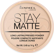 Load image into Gallery viewer, Rimmel London Stay Matte Pressed Powder, Shine Control Formula with Mineral Setting, Transparent, 14 g - iBuy Africa