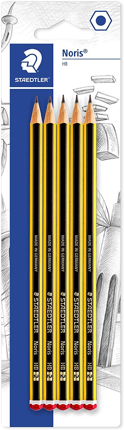 Staedtler Noris 120-S BK5D Pencil Assorted Grades (Blister Pack of 5) - iBuy Africa