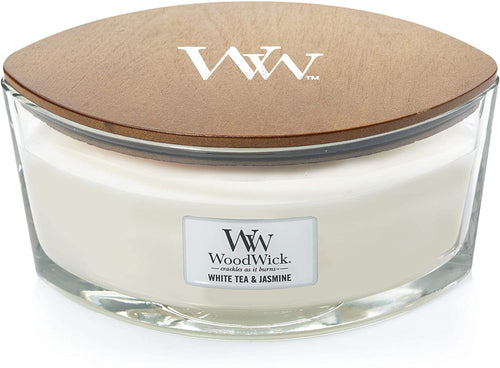 WoodWick Ellipse Scented Candle with Crackling Wick | Willow | Up to 50 Hours Burn Time White Tea & Jasmine - iBuy Africa