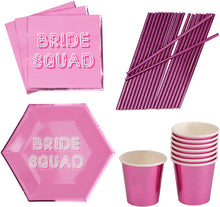 Load image into Gallery viewer, Neviti Bride Squad Decorations Hen Party Night Supplies Pink Bridesmaid Bride to Be … (Tableware Set) - iBuy Africa