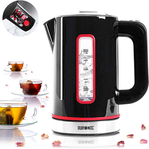 Duronic Electric Kettle| BLACK 1.5L Fast Boil Kettle - iBuy Africa
