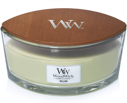 WoodWick Ellipse Scented Candle with Crackling Wick | Willow | Up to 50 Hours Burn Time Willow - iBuy Africa