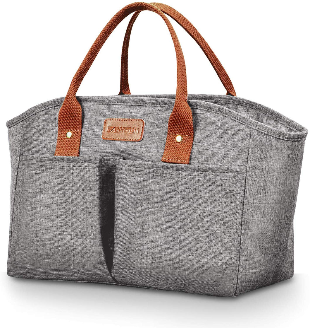 Lunch Bag for Adults Insulated Lunch Bags for Women Fashionable Cool Bag for Work Large Lunch Tote Box Gray Gray - iBuy Africa