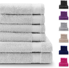 Load image into Gallery viewer, Chemical-Free, 100% Cotton Towel Sets (6 Pieces, Violet) - 4 Hand Towels (50x80cm) and 2 Bath Sheets (140x70cm) - Super Soft and Absorbent - Machine Washable - Bathroom, Pool - iBuy Africa