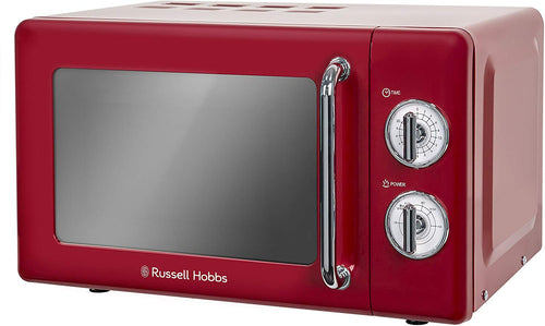 Russell Hobbs RHRETMM705C 17L Retro Manual 700w Solo Microwave Cream - iBuy Africa