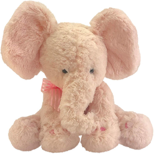 Pink Elephant Plush Teddy Bear – Soft Toy Baby Gift, Christening, Baby Shower, Birthday or Christmas Toys for Kids - iBuy Africa