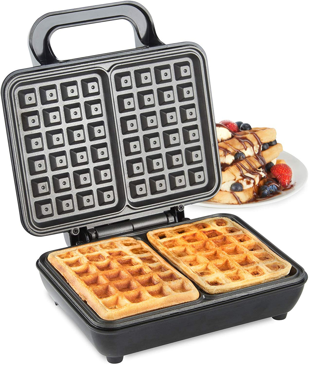 VonShef Waffle Maker, Stick Belgian Waffle Easy Clean Non-Stick Coated Plates & Automatic Temperature Control, Compact Stainless Steel Design – 500W Dual - iBuy Africa