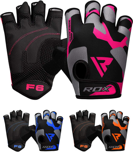 RDX Weight Lifting Gloves for Gym Workout - Breathable with Padded Anti Slip Palm Protection - Great for Fitness, Bodybuilding, powerlifting, Strength Training, Weightlifting, Cycling & Exercise - iBuy Africa