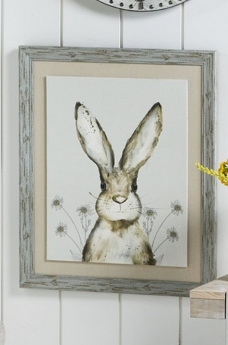 Watercolour Hare Framed Canvas - iBuy Africa