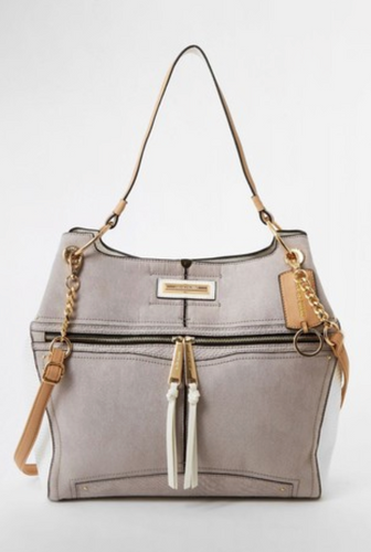 River Island Grey Light Utility Slouch Bag - iBuy Africa