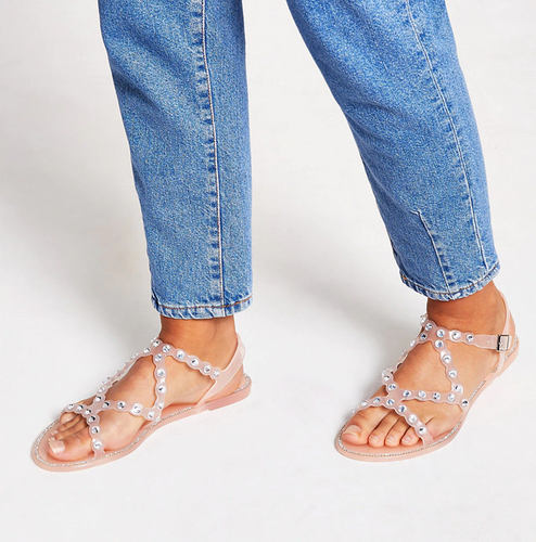 Pink diamante jelly sandals - iBuy Africa