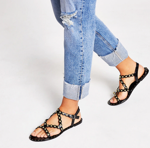 Black studded jelly sandals - iBuy Africa