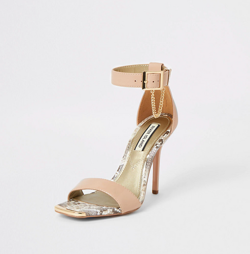Pink patent barely there heeled sandals - iBuy Africa