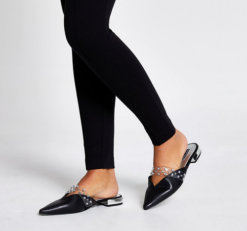 Black diamante pointed toe shoes - iBuy Africa