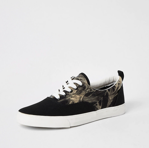 Black tie dye lace-up trainers - iBuy Africa