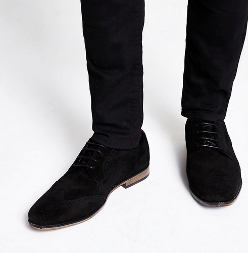 Black suede lace-up brogues - iBuy Africa