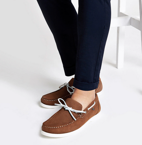 Light brown suede boat shoes - iBuy Africa