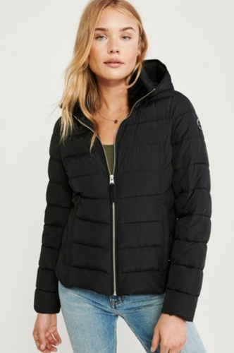 Abercrombie & Fitch Black Hooded Padded Jacket - iBuy Africa