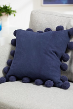 Load image into Gallery viewer, Pom Pom Edge Cushion Square - Assorted Colours - iBuy Africa