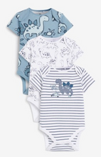 Load image into Gallery viewer, 3 Pack Dino Short Sleeved Bodysuits - iBuy Africa