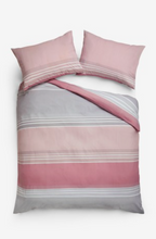 Load image into Gallery viewer, Stripe Duvet Cover and Pillowcase Set