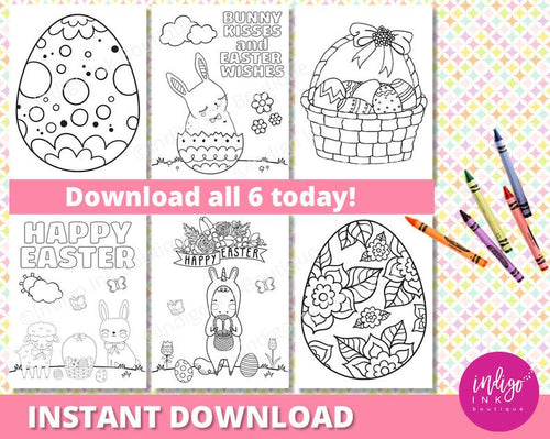 Easter Coloring Sheet for Kids | Happy Easter Coloring Pages |  Unicorn Coloring Printables for Kids | Kids Coloring INSTANT DOWNLOAD - iBuy Africa