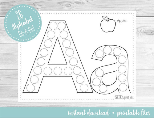 Alphabet (26 Page) Do A Dot Art Activity Sheets - iBuy Africa