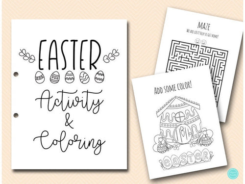 Easter Coloring and Activities book Pages, Instant Download File, Kids Fun Book, Easter Hunt Party, Easter Day Coloring Book BP669c - iBuy Africa