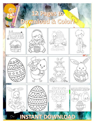 Easter Coloring Pages for Kids | Kids Coloring Sheets | Easter Coloring Printables for Kids | Easter Kids Printables INSTANT DOWNLOAD - iBuy Africa