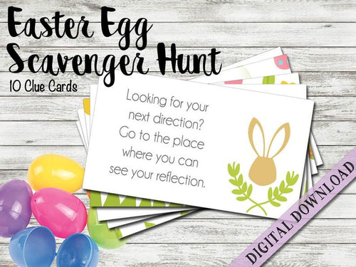Scavenger Hunt Clue Cards | Easter Basket Egg Hunt | Easter Bunny | Fun Game Activity for Kids | Printable Digital Instant Download | Family - iBuy Africa