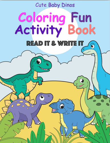 Instant Download 31 Baby Dinos to Color + 10 Read It & Write It Activity Sheets (PDF File Ready to Download) - iBuy Africa