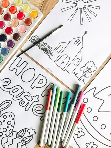 12 Easy Kids spring coloring activity page | children's activity page | Easter coloring pages | kids indoor activity | Easter craft - iBuy Africa