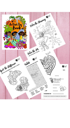 Kids Activity Book, Printable Coloring pages, Kids Crossword puzzles, Birthday Party Activity, School Classroom Activity, Word Scramble Maze - iBuy Africa