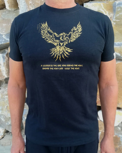 Hemp Organic Cotton T-Shirt With Eagle Print - Hemp Horizon