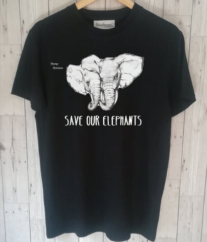 Elephant and baby Hemp t'shirt - Hemp Horizon