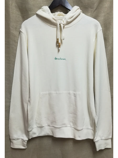 Hemp hooded sweatshirt with eco print - Hemp Horizon