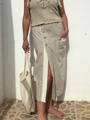 Mid length hemp skirt - Hemp Horizon