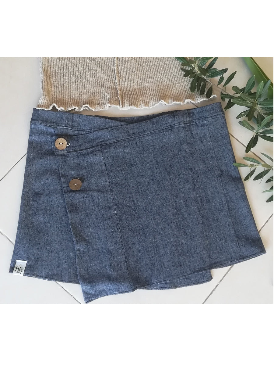 Hemp mini stretch jean skirt - Hemp Horizon