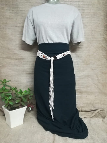 Black Hemp maxi skirt - Hemp Horizon